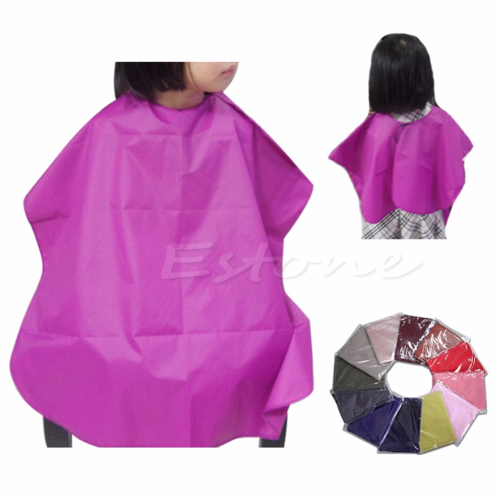 1 PC Children Salon Waterproof Hair Cut Hairdressing Barbers Cape Gown Cloth New Hot(China (Mainland))