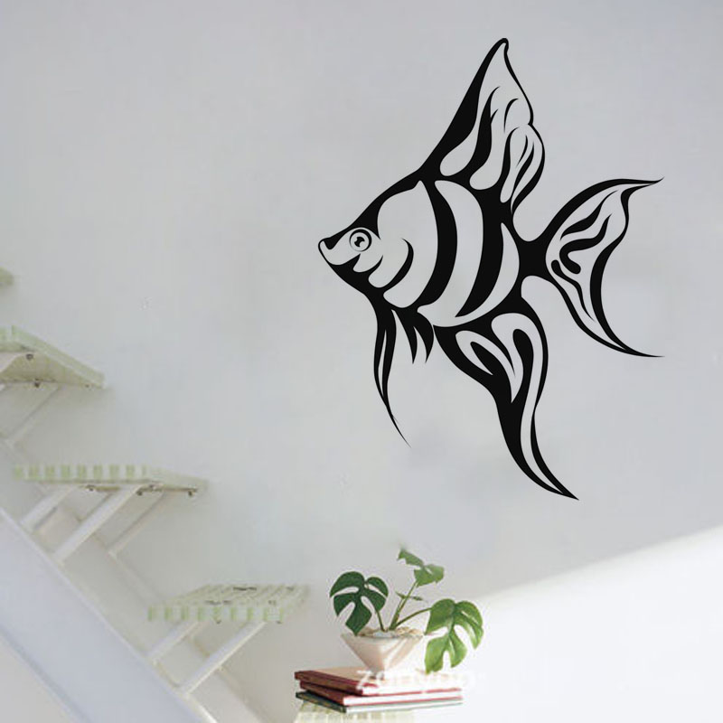 Piece Tropical Fish Wall Decal Living Room Hollow Out Decorative Sea Animal Vinyl Wall Sticker(China (Mainland))