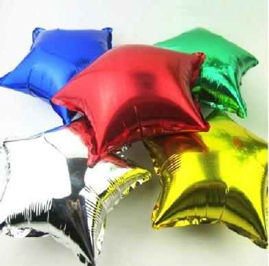 Free shipping 50pcs/lots wholesales 10inch Aluminum Foil Balloons ,Star balloons , Wedding /Party decoration LZ-238(China (Mainland))