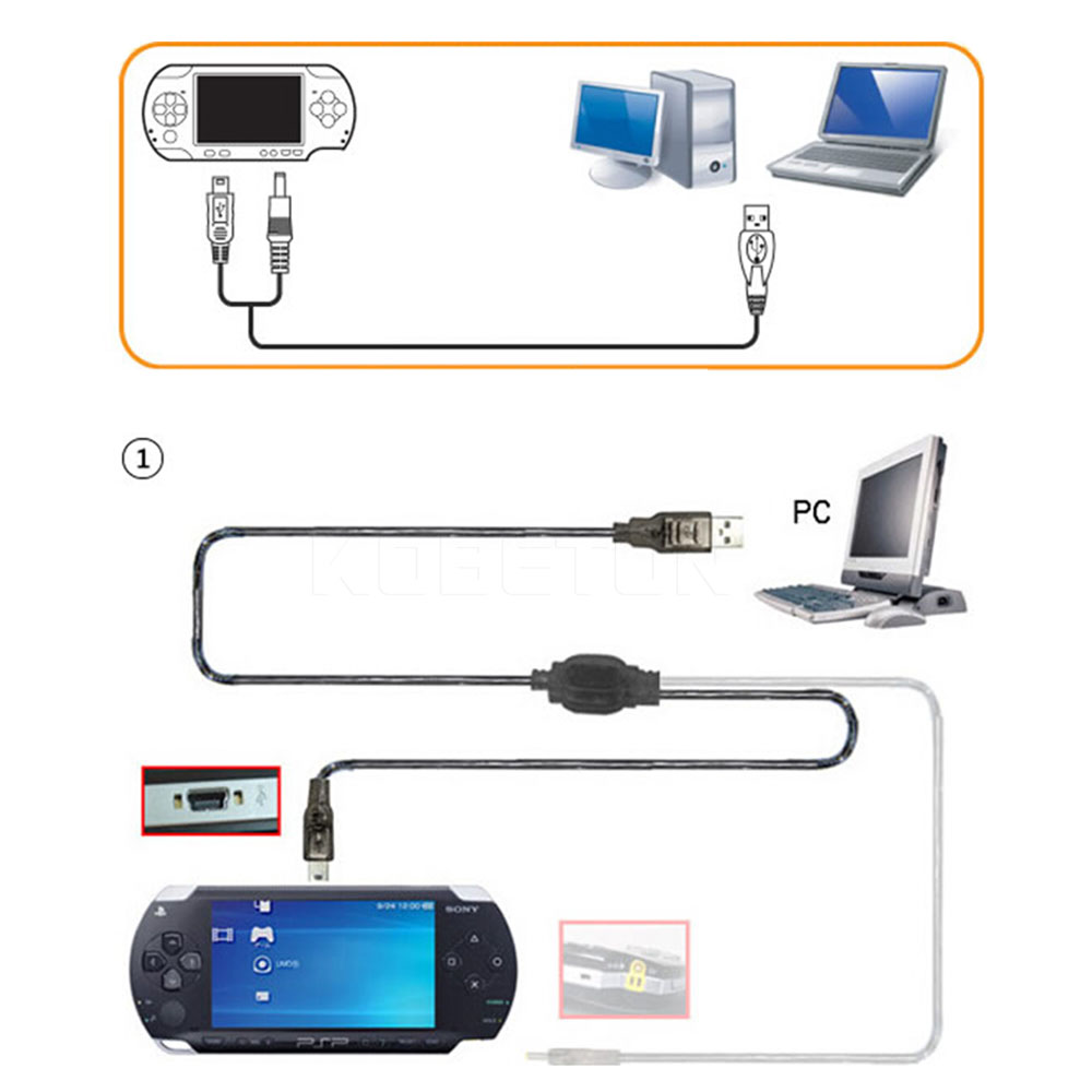 2016 New Arrival USB 2.0 Data Transfer Sync Charge Charger Cable Cord 2 in 1 for Sony For PSP 2000 3000 PS Vita Wholesale(China (Mainland))