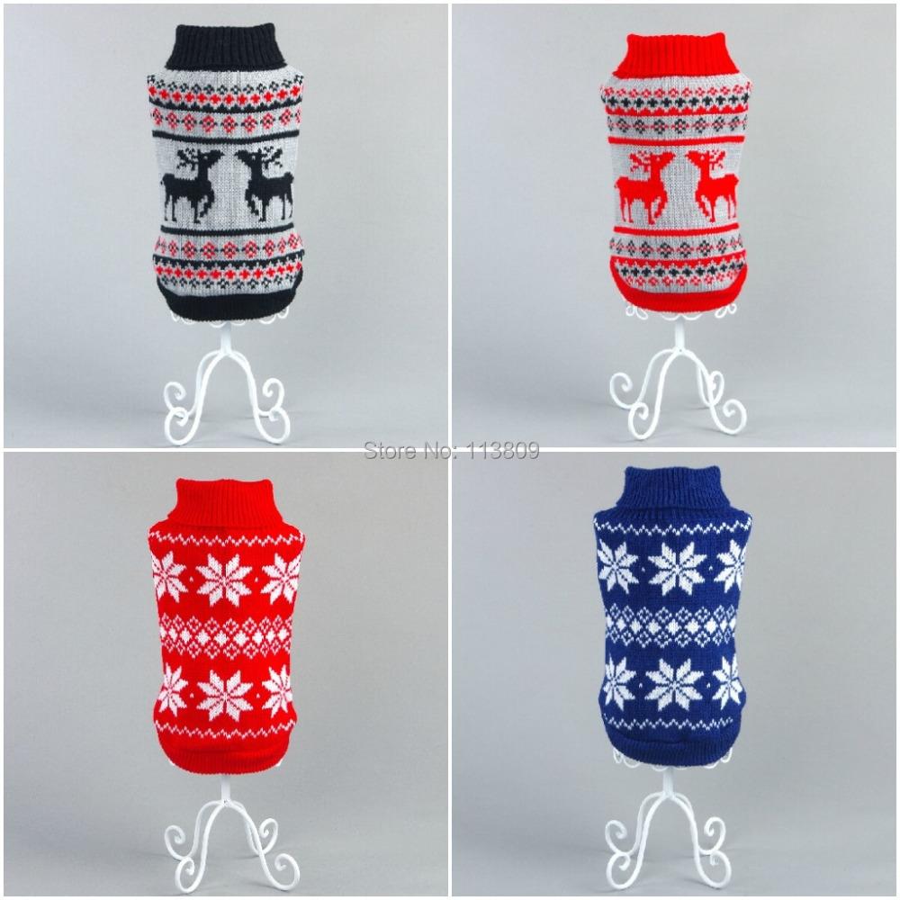 New Santa Ride Dog Sweater Pet Jumper Classic Xmas snowflake Dog Pet Sweater For Christmas Small Dogs Sz XS S M L XL XXL(China (Mainland))