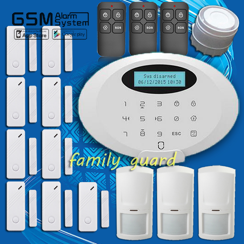 Free Shipping! Guard NEW Android APP Screen display Wireless bluetooth GSM 9 pcs Door Gap Home Security Burglar Alarm System(China (Mainland))