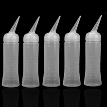 200ml Plastic Hairdressing Bottle Hair Salon Wash Tinting Applicator Measuring Perm Scale Tool   (China (Mainland))