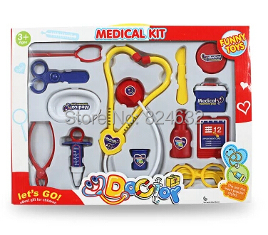 New child doctor kit medical toys set kids doctor set for baby toys house play toys 13pcs(China (Mainland))