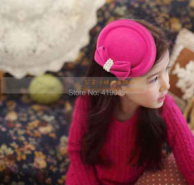 Lady Girls Bowknot Beret Hat Fascinator Hair Clip Net Pillbox Hat Fascinator Hair Clip Accessory Flower Cap(China (Mainland))