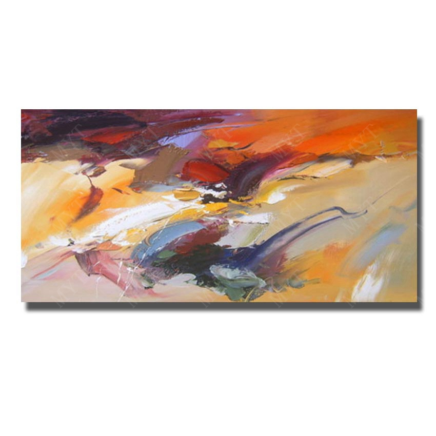 Artist Painted Abstract Oil Paintings For Living Room Decoration Hang Wall Pictures Chinese Oil Painting New Wall Art No Frame(China (Mainland))
