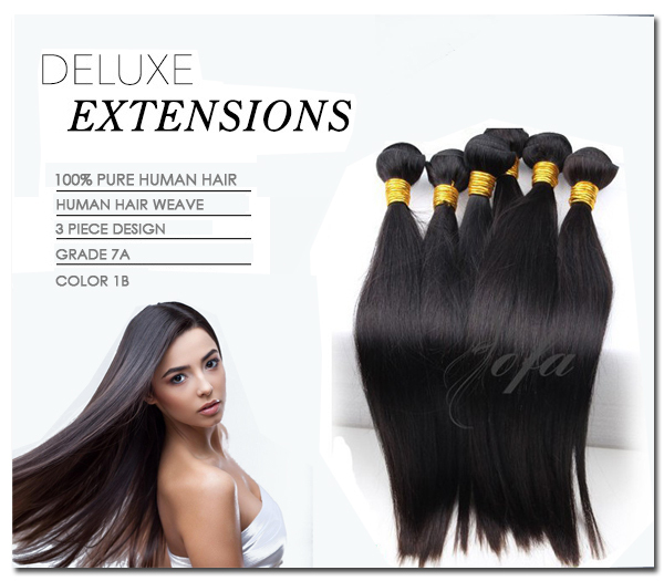 Pure 100% cuticle Remy human hair extensions premium raw unprocessed 10a virgin Brazilian straight accept paypal free shipping(China (Mainland))