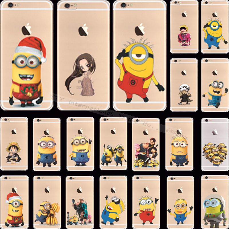 Popular Soft Silicon Despicable Yellow Minion Cover/Cases For Apple iPhone 6 iPhone 6S iPhone6 Case Phone Shell VTM JH-T Q-DA AW(China (Mainland))