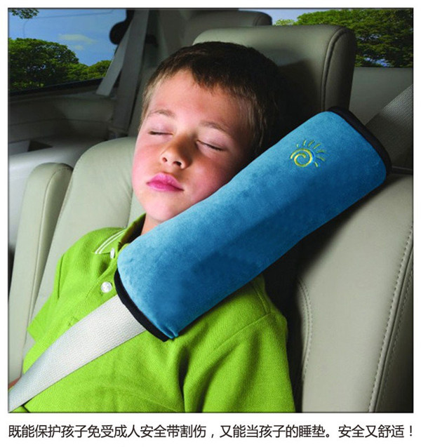 Baby Auto Pillow Car Safety Belt Harness Shoulder Pad Protect Vehicle Seat Belt Cushion for Kids Children 3 Colors BZ870035(China (Mainland))