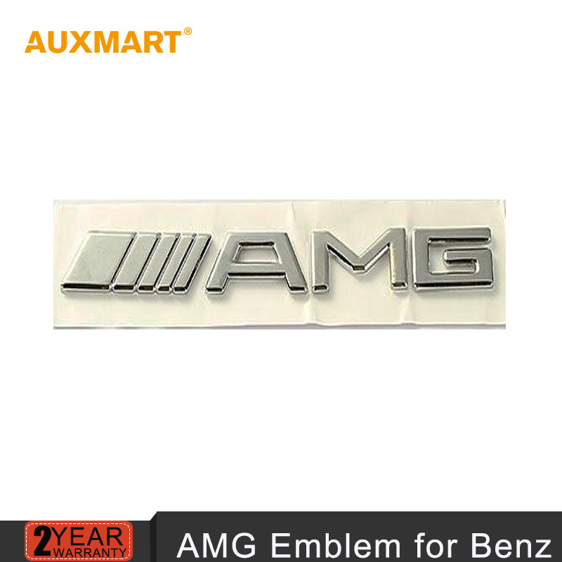 Auxmart 7.7x 0.8 x 0.1 inch 3D Chrome Metal AMG car Badge sticker CLK rear logo decal trunk car emblem for Mercede Benz models(China (Mainland))