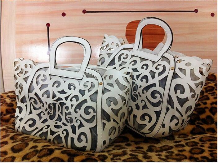 Fashion Cutout Carved Handbag Hollow Tassel Carving Totes Brand Designer Bag Women Messenger Handbags Leather with Shoulder belt<br><br>Aliexpress