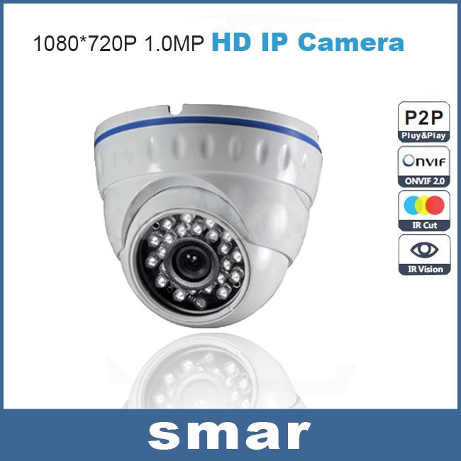 CCTV Mini IP Camera 720P Security HD 1.0 Megapixel Network Indoor Dome Video Camera 24 Infrared H.264 Onvif P2P Cloud Best Price(China (Mainland))