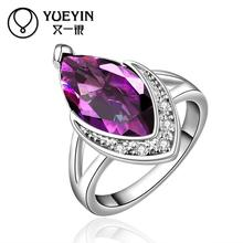 Hot sale popular Jewelry FVRR007-8 Free shipping high quality Fashion Big Crystal  Ring Zircon Ring for women
