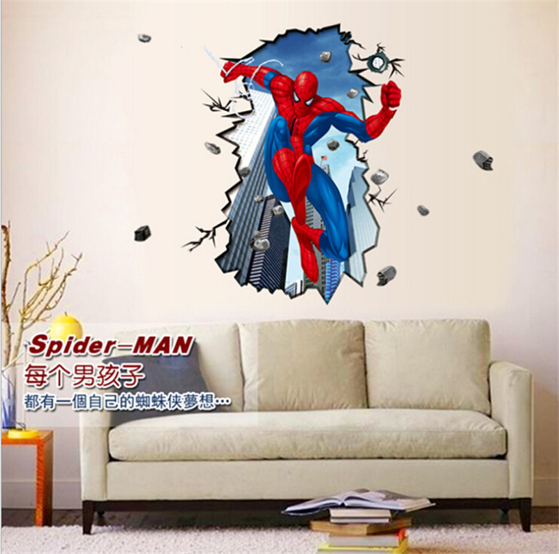 Buy home decration amazing large super for Stickers 3d pared