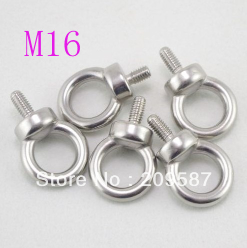 1pcs Eyes Bolts M16 Metric Threaded Marine Grade Boat Stainless Steel Lifting