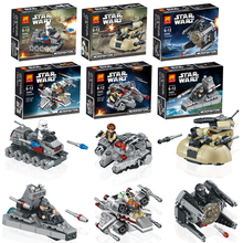 6pcs/set Lele 78085 Star Wars warships spaceship clone wars star wars troopers ships Building Blocks Compatible with Lego toys