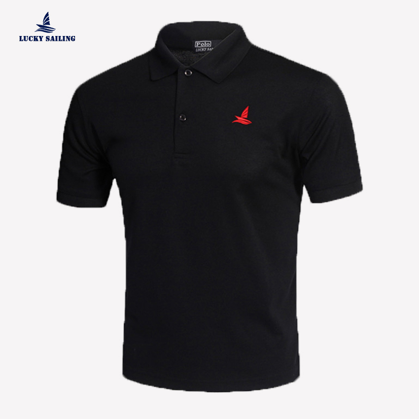 Lucky sailing summer style mens golf shirt polo shirt for Mens business shirts sale