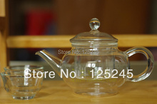 heat resistant clear glass tea pot with infuser 250ml