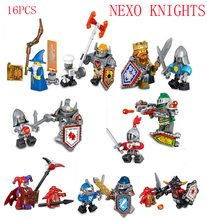 1NEXO Knights Jestro Scurrier w/6 Teeth Ash Attacker CHEF ECLAIR Lance Bot Compatible legoe Minifigures kit block toy - Easter Toys Store store