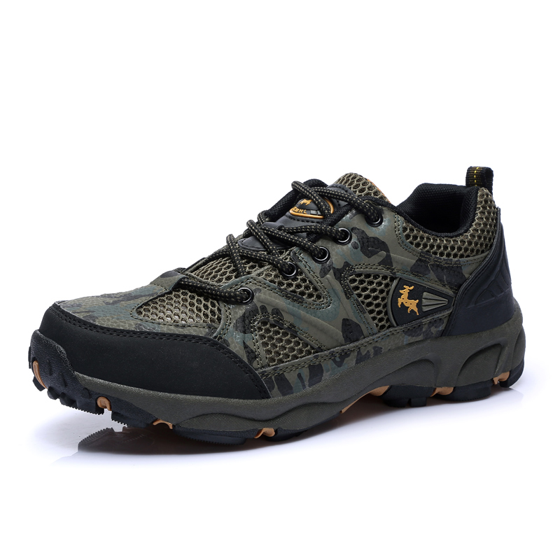 2016 Outdoor Men Breathable Mesh Trekking Shoes Summer Autumn Mesh Hiking Shoes Men Mountain Boots Lightweight Military Sneaker(China (Mainland))