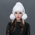 2016 New Women Winter Fashion Fur Hats Handmade Caps Female Warmer Elegant Party Headwear mink fur