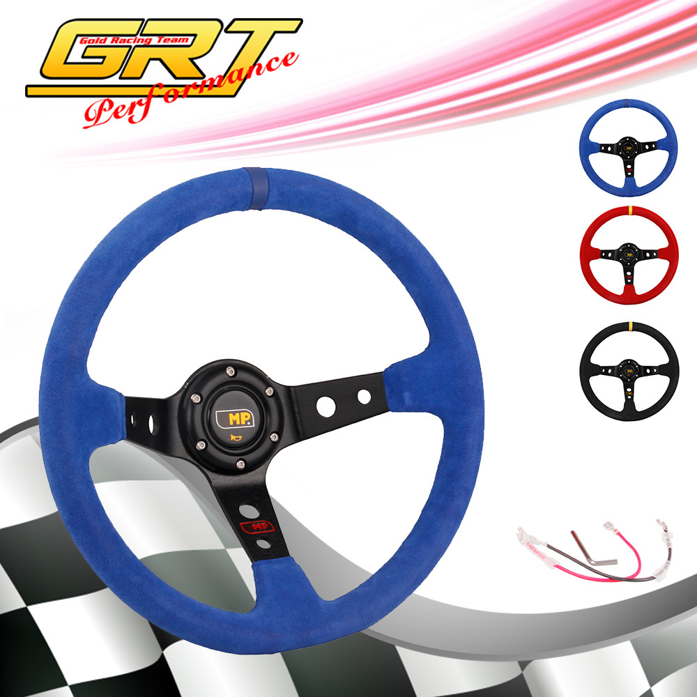 GRT - OMP Racing Sports Drifting Suede Auto Car Steering Wheels the size 14inch 350mm(China (Mainland))