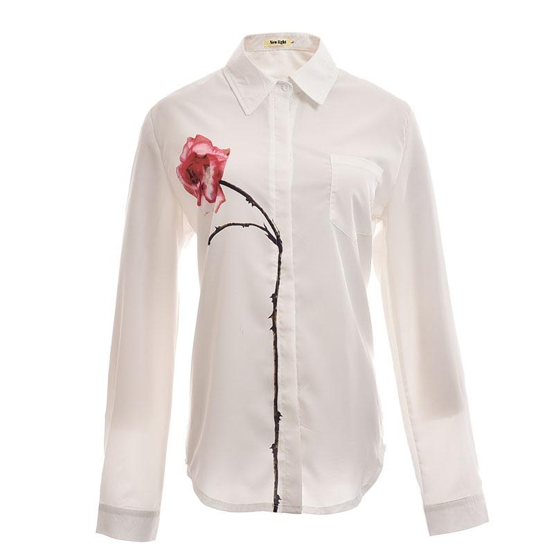 Белая Блузка С Цветами