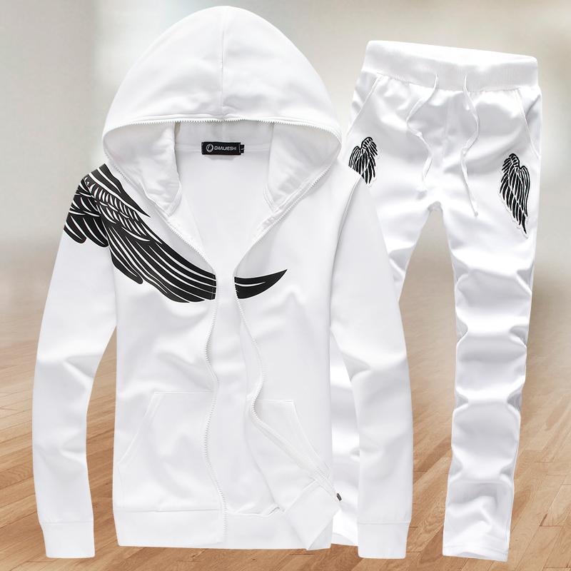 new 2016 winter autumn Tracksuits Hoodie Mens hoodies sportswear Suits Coats Jacket Set Brand sweatshirt Pants + Sweatshirt