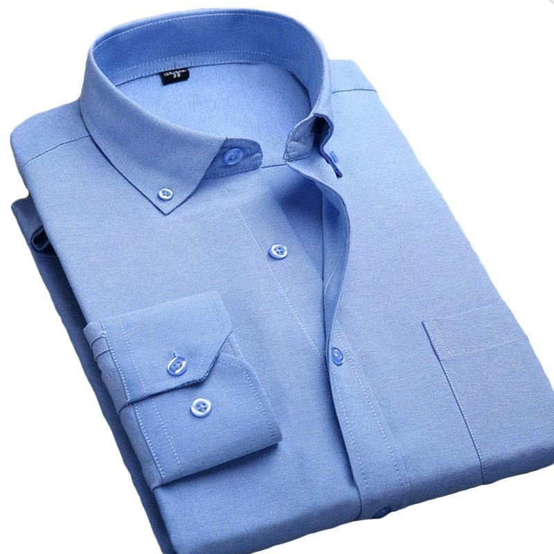 Men shirt 2016 long sleeve slim fit mens casual dress for Mens oxford dress shirts