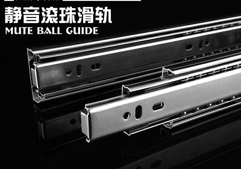 Stainless steel drawer track rail drawer slide drawer slide rails computer desk hardware accessories<br><br>Aliexpress