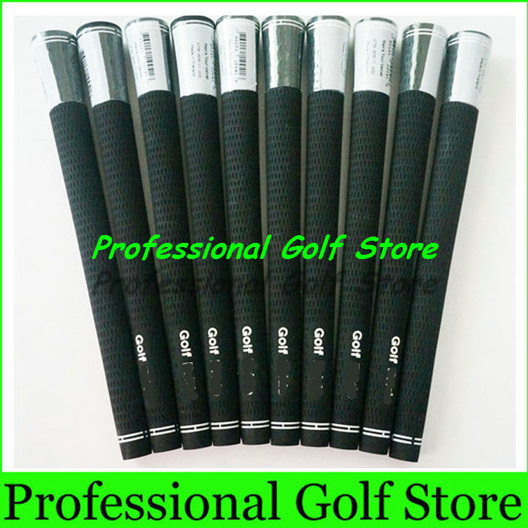 Hot sale 2015 NEW Golf Grips High Quality Rubber Black Golf Irons Grips 10pcs/Lot Golf Equipment Free Shipping(China (Mainland))
