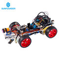 SunFounder Smart Car Kit for Arduino Uno R3 Electronic Diy Obstacle Avoiding Line Tracing Light Seeking