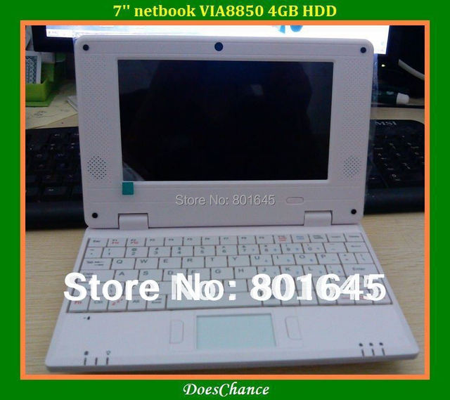 New arrival mini laptop Android 4.03 windows CE VIA8850 512M/4GB Wifi + Webcam mini Netbook with Russian keyboard