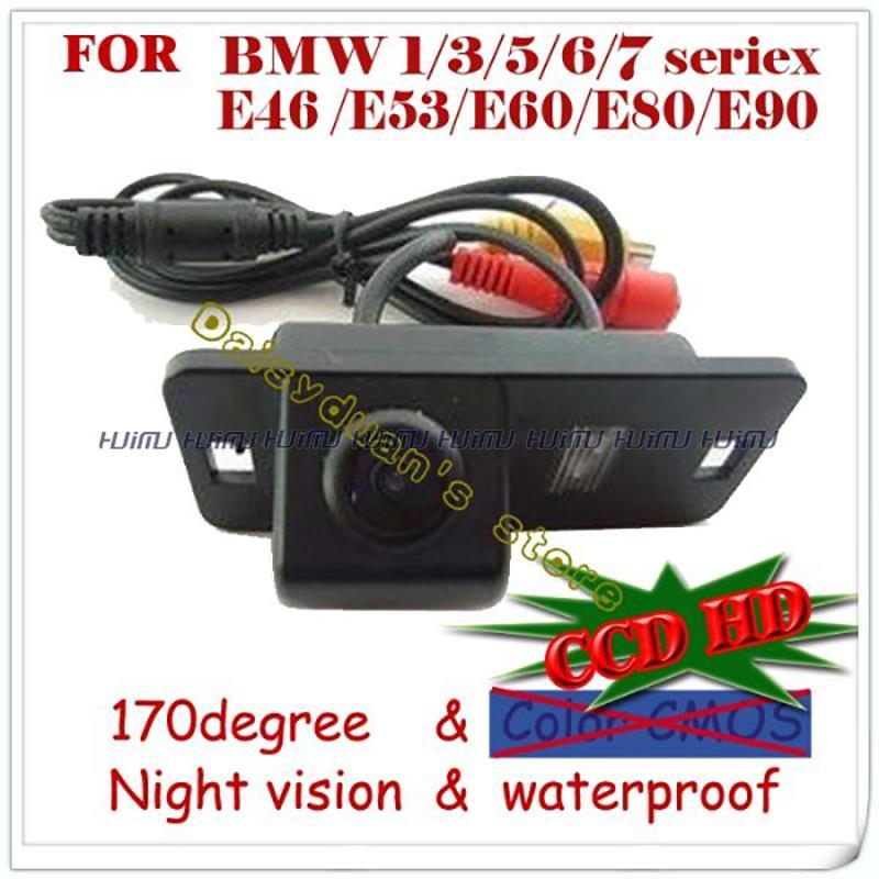 CCD LEDS wire wireless Car Rear Camera for BMW 1 Series E82/3 E46 E90 E91/5 Series E39 Limousine/coupe cabrio E60N E88 camera(China (Mainland))