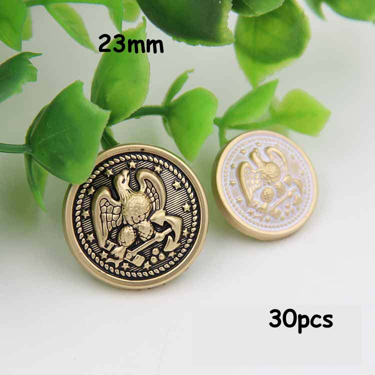 30pcs 23mm golden eagle embossed metal buttons suit coat button sewing supplies(China (Mainland))