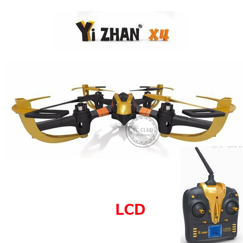 Good Children's Toy Original YIZHAN X4 with LCD Remote Control 6-CH 2.4GHz RC Quadcopter UFO with 6-Axis Gyro/LED Light RTF(China (Mainland))