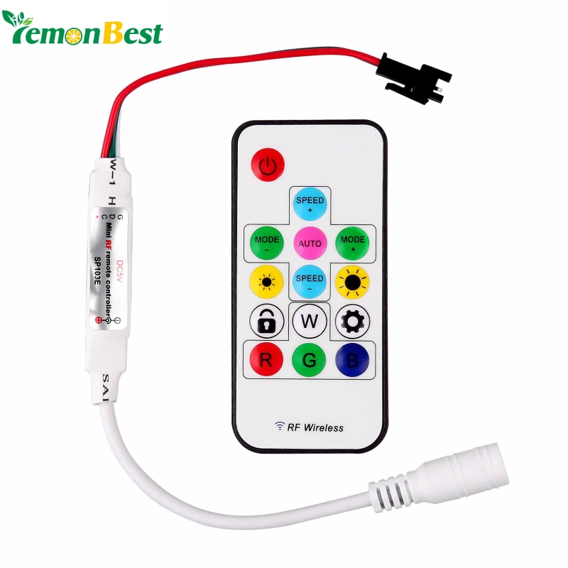 RGB Controller RF WS2811 Remote Control Wireless RF 14keys LED RGB Controller 300kinds of Changes 2048 Pixel For RGB 5050 Strip(China (Mainland))