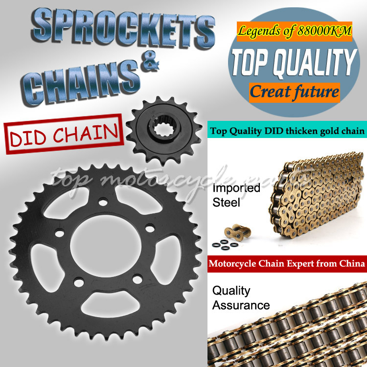1 Set Front and Rear Sprocket Chain & chain For HONDA CB400 CB-1 Motorcycle 92-98 1992 1993 1994 1995 1996 1997 1998(China (Mainland))