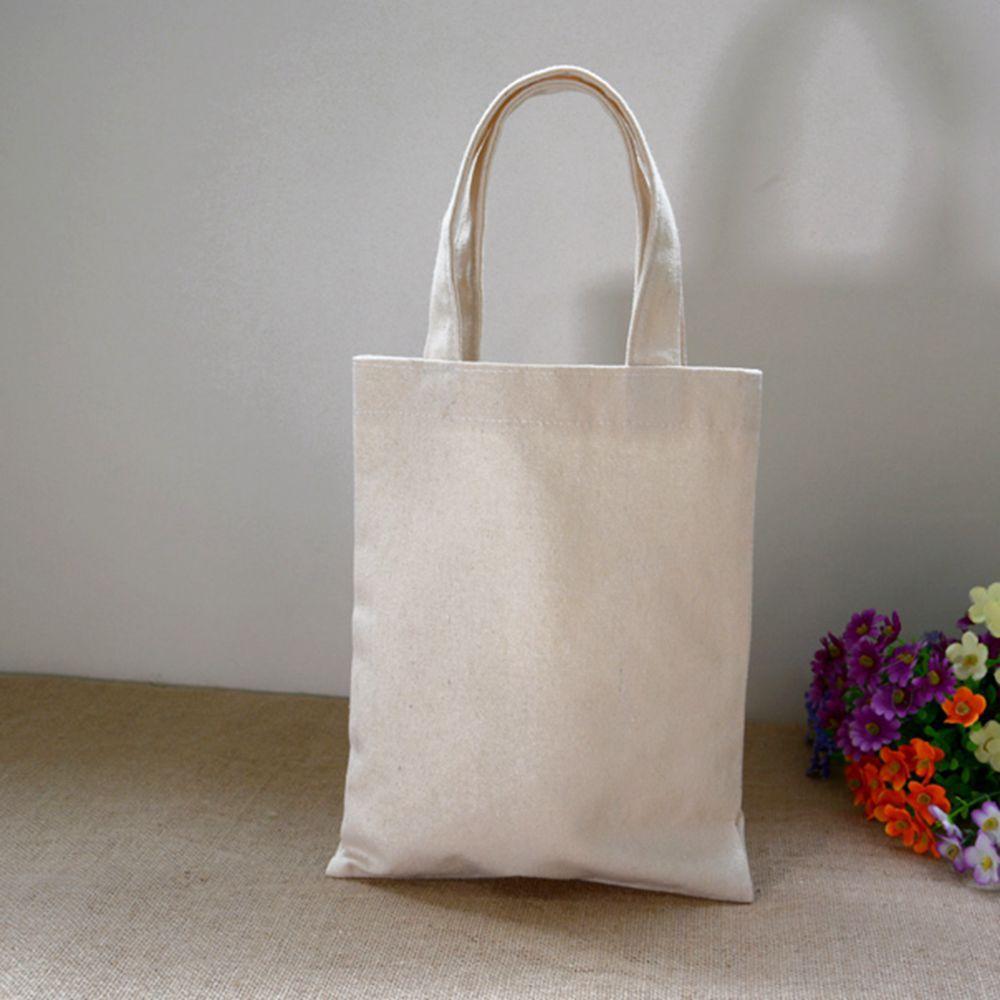 100% 12oz Cotton Eco Bags Tote Bag Small Natural Mini Women's Handbags Blank Canvas Ladies Plain Solid Reusable Free Shipping(China (Mainland))