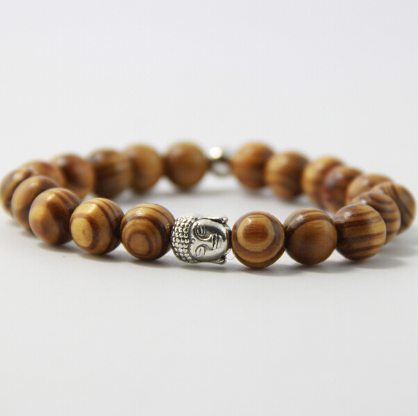 FATONGBB0106Freeshipping high quality Buddha head bead bracelet Mara prayer beads natural wooden bead bracelets men's bracelets(China (Mainland))