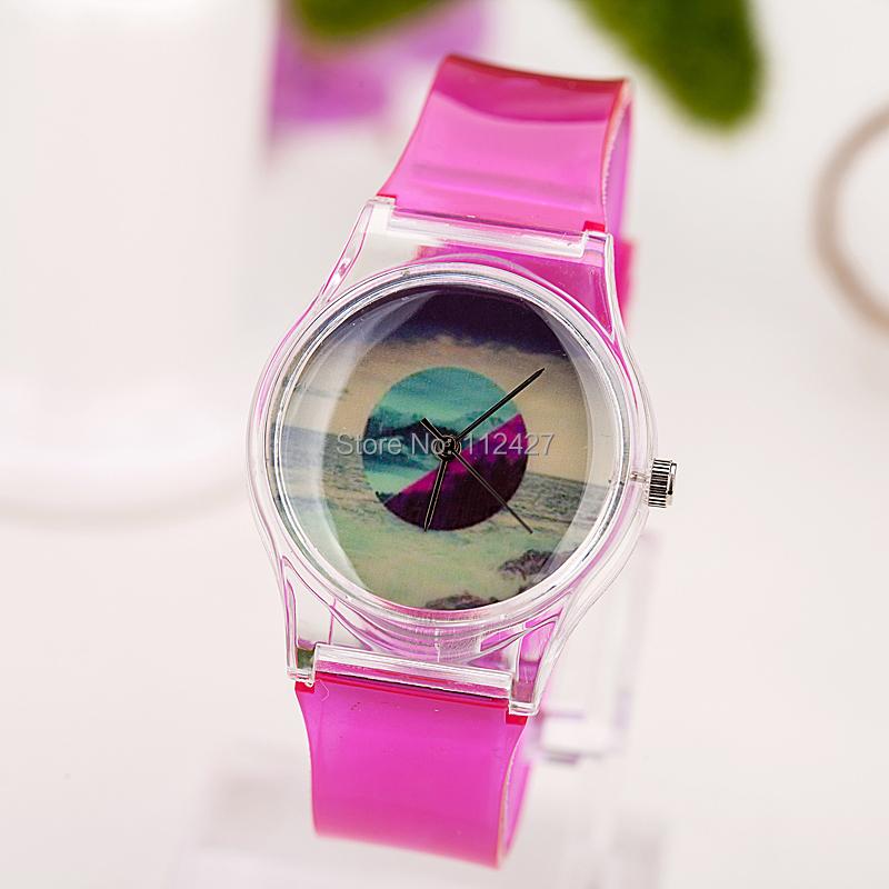 2015 Hot Sale Paper Quartz Reloj Women's Watch Summer Moon Face Band Sports Analog Free Drop Shipping Electronic New-cp011(China (Mainland))