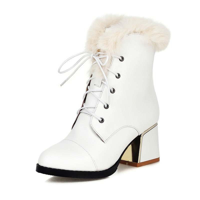 Fantastic Fashion Flat Boots Women Snow Boots And Slip On Round Toe Women Winter