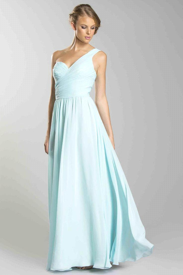 Здесь можно купить  2015 New Cheap One Shoulder Pleated Bridesmaid Dresses Floor-length Chiffon Mint Green Long Wedding Party Dresses Vestido ZY4502 2015 New Cheap One Shoulder Pleated Bridesmaid Dresses Floor-length Chiffon Mint Green Long Wedding Party Dresses Vestido ZY4502 Одежда и аксессуары