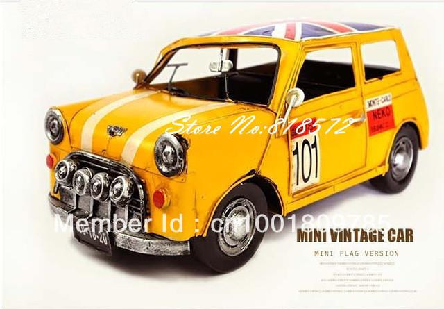Handmade vintage metal car model  flag big mini l,Home decoration Crafts Gifts Collage