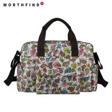 WORTHFIND 5 pcs/set Multifunctional Bolsa Maternidade Baby Diaper Bags Baby Nappy Bag Maternity Bags Lady Handbag Messenger Bags(China (Mainland))