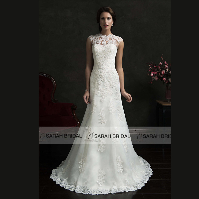 Elegant 2 Piece Wedding Dresses : Hot sale two piece bridal gowns with lace jacket