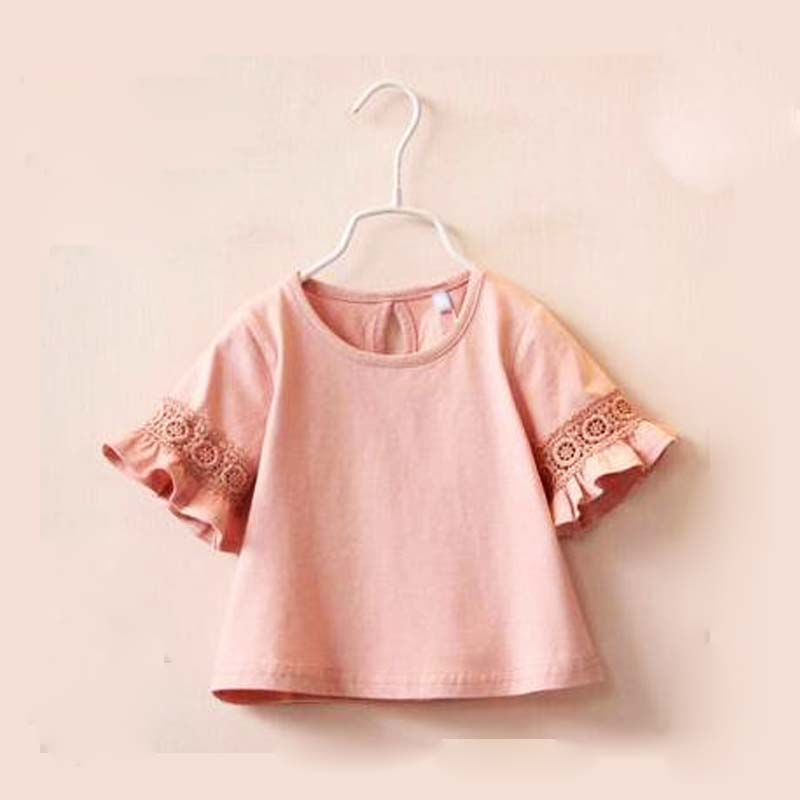 Princess Lace Kids girls T shirt Half sleeve children t shirts for girl top clothes clothing Summer Spring(China (Mainland))