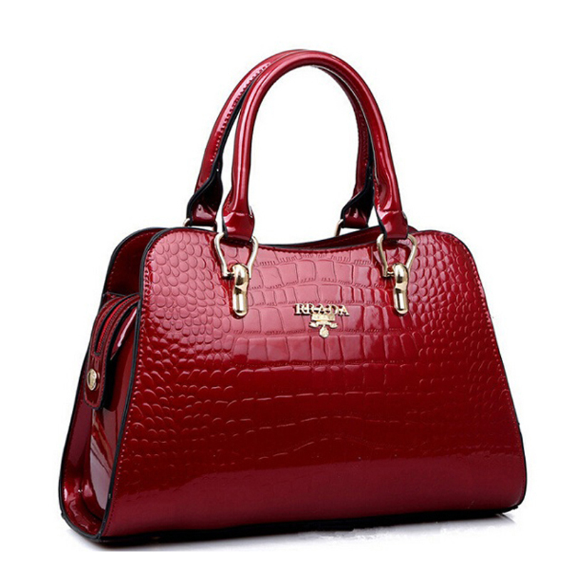 2015 NEW Women's Tote bags Designer handbags genuine leather bag crocodile fashion women bag paint women messenger bags bolsas(China (Mainland))