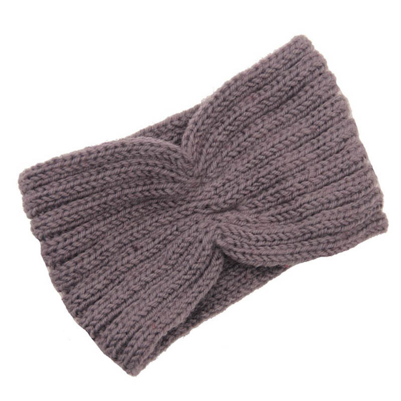 New Stylish Grey Winter Women Ear Warmer Headwrap Fashion Bohemia Crochet Headband Knitted Hairband Hot Sale(China (Mainland))