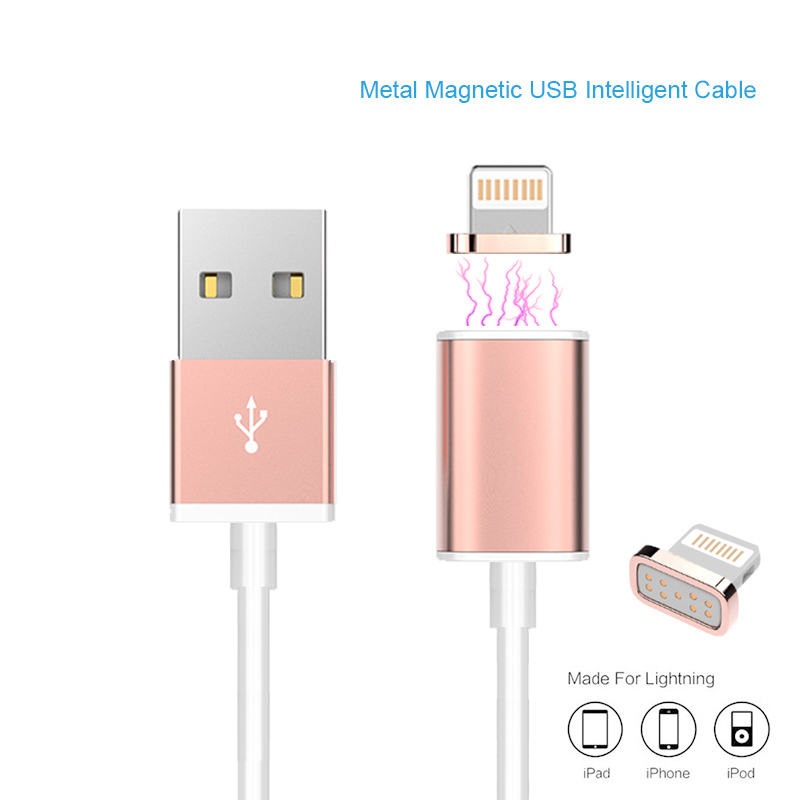 Magnetic Charger Cable 2A usb Adapter For iPhone 5S 5C SE 6 6S Plus iPad 4 5 Air Mini 3 iPod 5 Magnet Fast Charging Sync(China (Mainland))